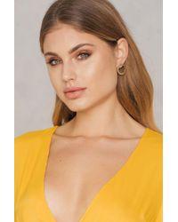 NA-KD | Metallic Circle Stud Earrings | Lyst