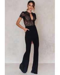 For Love & Lemons - Black Elsa Lace Bodysuit - Lyst