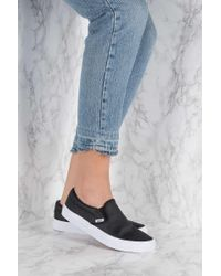 Vans | Black Classic Slip-on Perfect Leather | Lyst