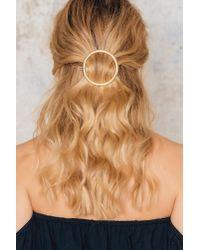 NA-KD - Metallic Big Circle Hair Clip - Lyst