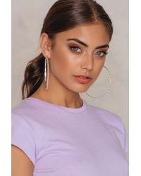 NA-KD | Metallic Big Hoop Textured Earrings | Lyst