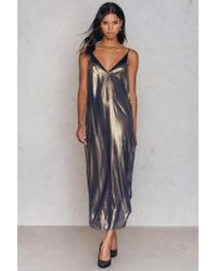 Free People - Metallic Anytime Shine Slip Dress - Lyst