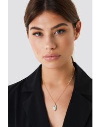 NA-KD - Metallic Diamond Drop Necklace - Lyst