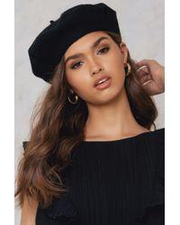 2af749f45d011 Lyst - Na-Kd Beret Hat Black in Black