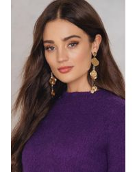 NA-KD - Metallic Melted Circles Drop Earrings - Lyst
