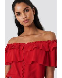 Flynn Skye - Red Billi Blouse Kiss My Lips - Lyst