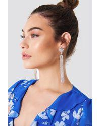 NA-KD - Metallic Bead Tassel Earring - Lyst