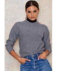 Filippa K   Gray Cropped Pullover   Lyst