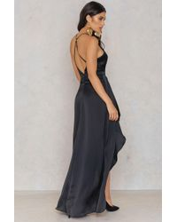 Passion Fusion - Black Slip Maxi Dress - Lyst