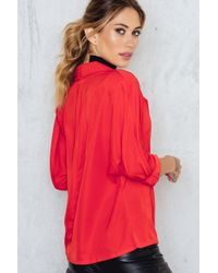SanneAlexandra - Red Breasted Blazer - Lyst