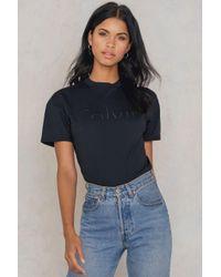 Calvin Klein   Black Teco True Icon Logo Tee   Lyst