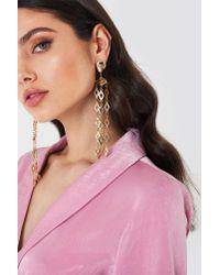 NA-KD - Metallic Romb Chain Earring - Lyst