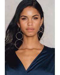 NA-KD - Metallic - Hanging Circles Earrings - Lyst