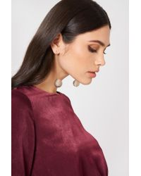 NA-KD - Metallic Royal Globe Drop Earrings - Lyst