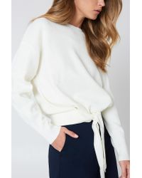 Re:named - White Alexis Sweater - Lyst