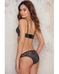 NA-KD - Contrast Lace Brief Black - Lyst