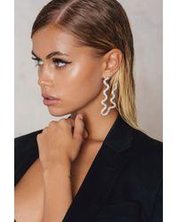 NA-KD   Metallic Long Snake Earrings   Lyst