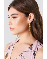 NA-KD - Yellow Hanging Row Stone Earrings - Lyst