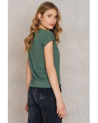 NA-KD - Green Your Loss Babe Tee - Lyst