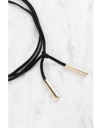 NA-KD - Suede Necklace With Metal Detail Black - Lyst