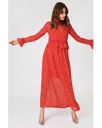 Minimum - Amabel Dress Fiery Red - Lyst