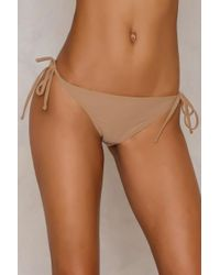 NA-KD - Brown Triangle Panty - Lyst