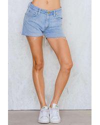 NA-KD - Blue Lee Vintage Mid Waist Shorts - Lyst