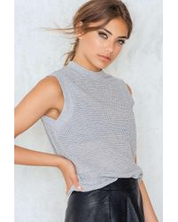 Just Female | Gray Selin Top | Lyst
