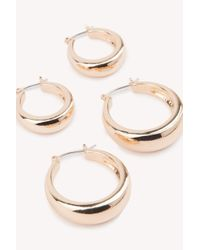 NA-KD - Metallic Chunky Hoop Earrings Set - Lyst
