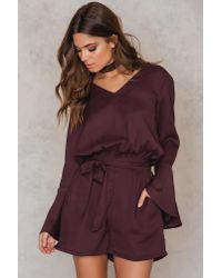 Rut&Circle - Purple Gemina Playsuit - Lyst