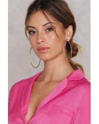 NA-KD | Metallic Big Hoop Structured Earrings | Lyst