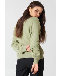 NA-KD - Basic Sweater Army Green - Lyst