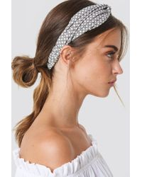NA-KD - Gray Dotted Hairband Dusty Grey - Lyst