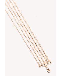 NA-KD - Metallic Multi Row Choker Necklace - Lyst