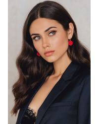NA-KD - Red Round Ball Earrings - Lyst