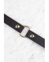 NA-KD - Metallic Gold Circle Leather Choker - Lyst