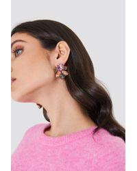 NA-KD - Pink Multicolor Big Diamond Earrings - Lyst