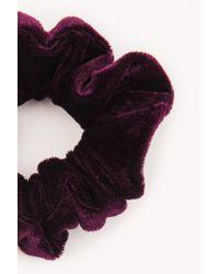 NA-KD - Multicolor Velvet Scrunchie - Lyst