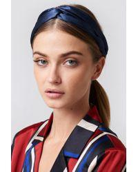 NA-KD - Blue Satin Hairband - Lyst