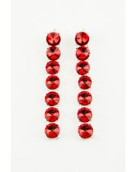 NA-KD - Hanging Row Stone Earrings Red - Lyst