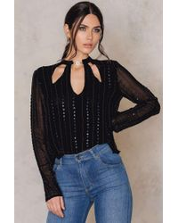 Free People | Black Young Love Top | Lyst