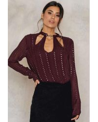 Free People | Purple Young Love Top | Lyst