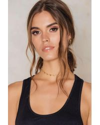 NA-KD | Metallic Small Triangle Choker | Lyst
