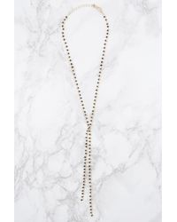 NA-KD - Black Beaded Necklace - Lyst