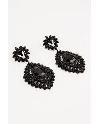 NA-KD - Black Romb Earrings - Lyst