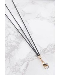 NA-KD | Black Thin Tripplestrap Choker | Lyst
