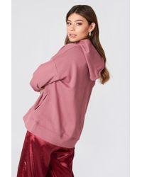 NA-KD - Gathered Sleeve Hoodie Pink Rose - Lyst