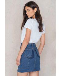 NA-KD   Blue Two Tone Pocket Skirt   Lyst