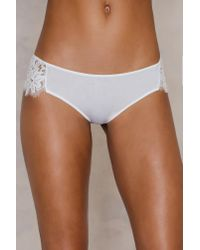 For Love & Lemons - White Sage Lace Panty - Lyst