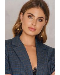 Shashi - Brown Tiffany Hoop Earrings - Lyst